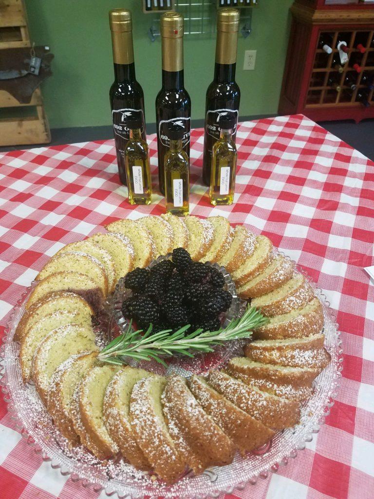 Lemon Olive Oil Cake, Sliced