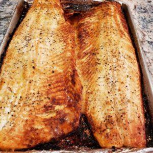 Basil and Sicilian lemon balsamic glazed salmon