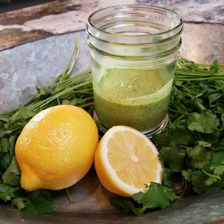 Cilantro and lemon vinaigrette